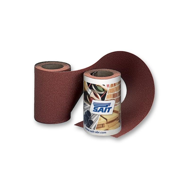 SAIT Abrasivi, RM-Saitac AW-D, Mini rollo de papel abrasivo, para Metal, Madeira, Carrocería y Otras Aplicaciones