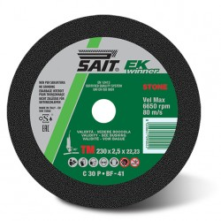 SAIT Abrasivi, EK WINNER-TM C 30 P, Flat cutting wheel, Type 41, for Building Materials Applications
