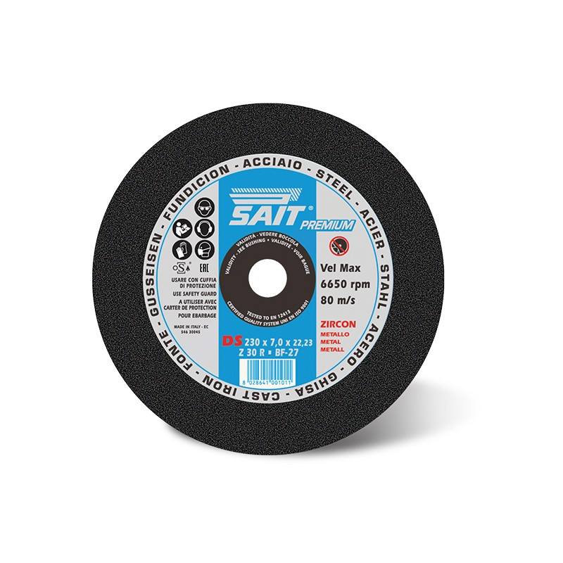 SAIT Abrasivi Type 27 (depressed Centre), Grinding Wheel, Premium DS Z30R