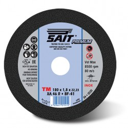 SAIT Abrasivi Type 41, Inox Cutting Wheel Portable Machines, Premium TM XA 46 R