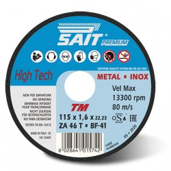 SAIT Abrasivi Type 41, Inox Cutting Wheel Portable Machines, Premium TM ZA 46 T
