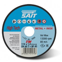 SAIT Abrasivi Type 41, Inox Cutting Wheel Portable Machines, Premium TM ZA 60 T
