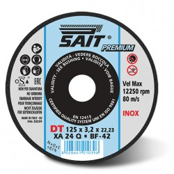 SAIT Abrasivi Type 42, Inox Cutting Wheel Portable Machines, Premium DT XA 24 Q