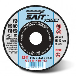SAIT Abrasivi Type 42, Inox Cutting Wheel Portable Machines, Top Ceramic DT A 24 N