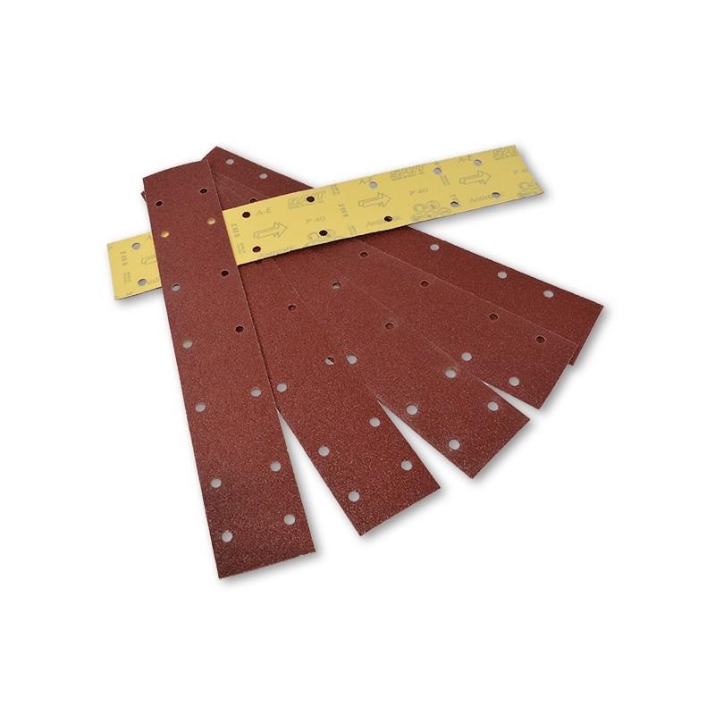 SAIT Abrasivi, BV-Saitac A-E, Tiras de papel abrasivo para fijación con gancho y bucle, para Aplicaciones de Carrocería