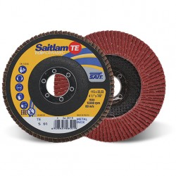 SAIT Abrasivi, TOP-Ceramic, Saitlam-TE, Abrasive flat flap disc, for Metal Applications