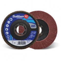 SAIT Abrasivi, TOP-Ceramic, Saitlam-TC, Abrasive flat flap disc, for Metal Applications