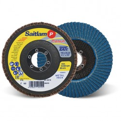 SAIT Abrasivi, Premium, Saitlam-PK Z, Disco abrasivo lamellare conico, per Applicazioni Metallo
