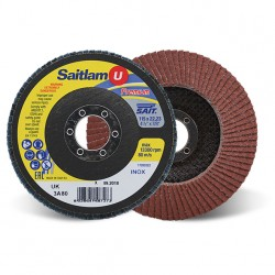 SAIT Abrasivi, Premium, Saitlam-UK 3A, Abrasive conical flap disc, for Metal Applications