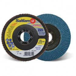 SAIT Abrasivi, Premium, Saitlam-UK Z, Abrasive conical flap disc, for Metal Applications