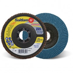 SAIT Abrasivi, Premium, Saitlam-UP Z, Abrasive flat flap disc, for Metal Applications