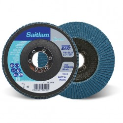 SAIT Abrasivi, Winner, Saitlam-FU Z, Abrasive flat flap disc, for Metal Applications