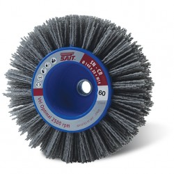 SAIT Abrasivi, SN-CR, Wheel Brush with Shank, for Metal, Wood, Automotive, Others Applications