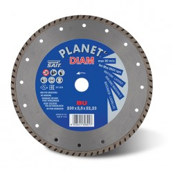 SAIT Abrasivi Planet Diam, BU Turbo, para Cementos, Materiales de Construcción
