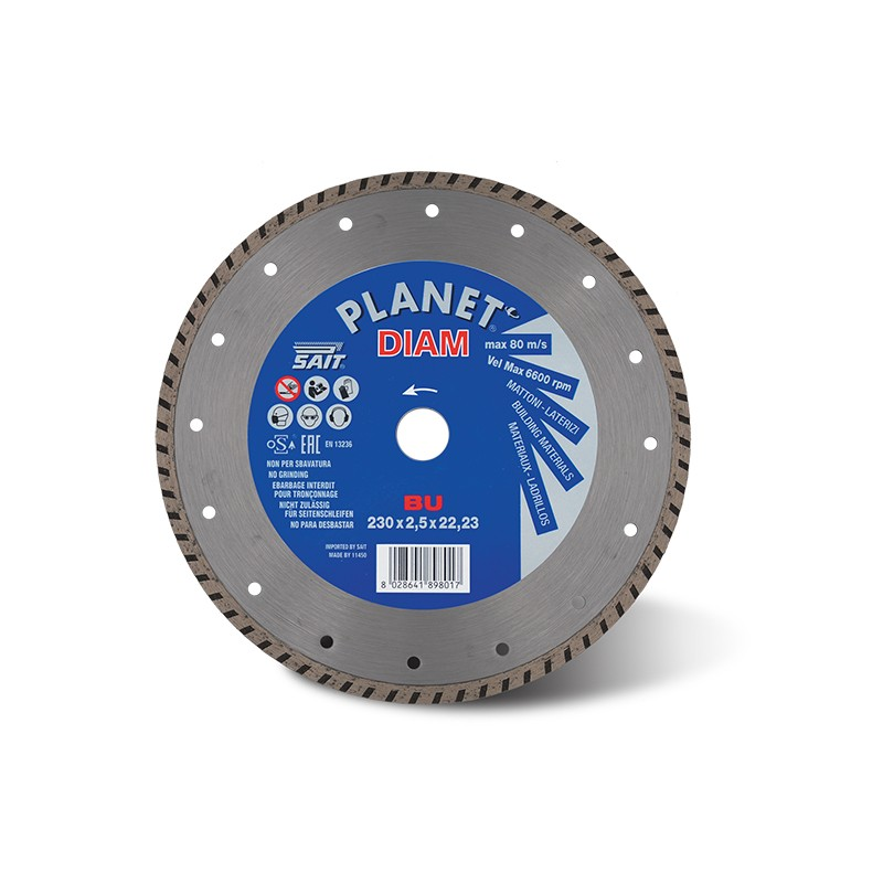 SAIT Abrasivi Planet Diam, BU Turbo, fur Zement, Ziegel