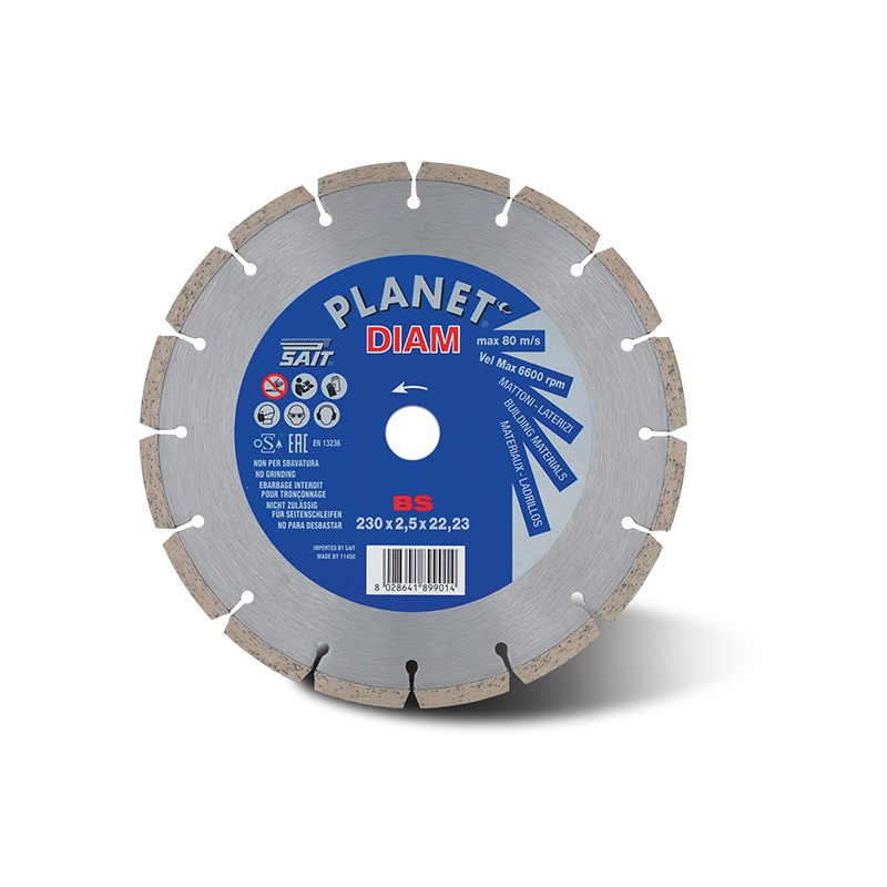 SAIT Abrasivi Planet Diam, BS seg. sint., per Cementi, Laterizi