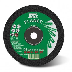 SAIT Abrasivi, PLANET - DT C 30 Q, Depressed centre cutting wheel, for Metal, Building Materials Applications