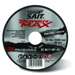 SAIT Abrasivi, Type 41, Flat cutting wheel, portable machines, Power Max, Premium TM ZZ 46 T