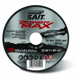 SAIT Abrasivi, Type 41, Flat cutting wheels, portable machines, Power Max, Premium TM ZZ 60 T