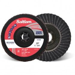 SAIT Abrasivi, Winner, Saitlam-Double, Abrasive Double Flap Disc, fibre glass backing, for Stone and Metal applicazions
