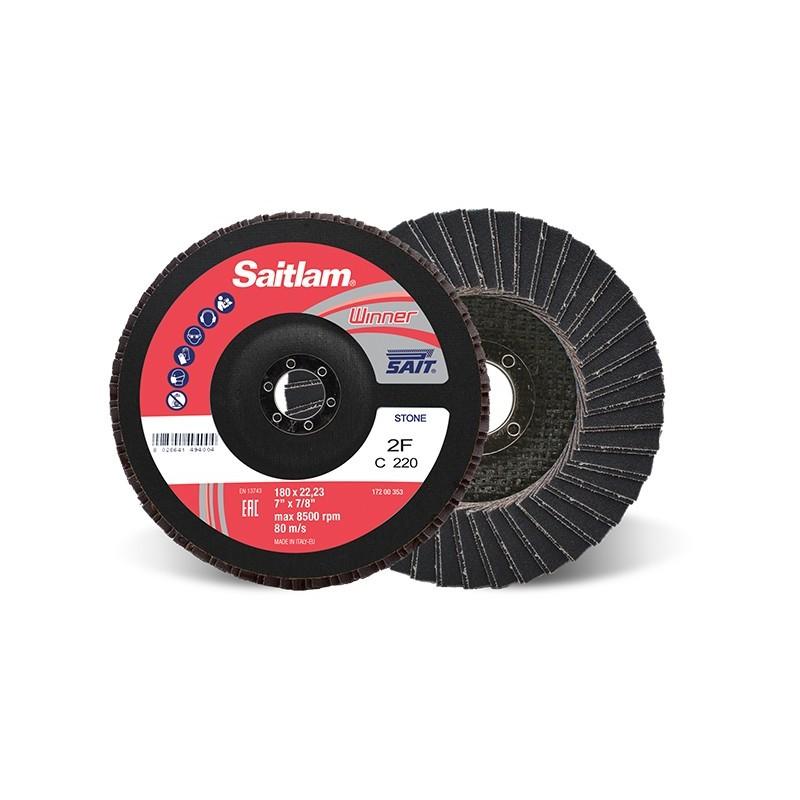 SAIT Abrasivi, Winner, Saitlam-Double, Abrasive Double Flap Disc, fibre glass backing, for Stone and Metal applicazions