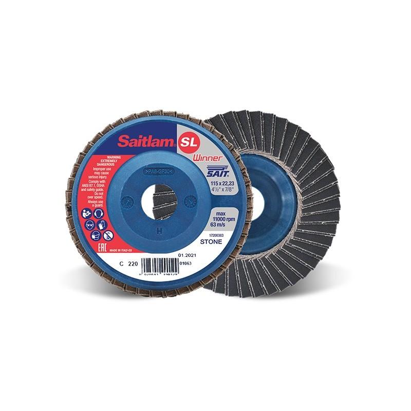 SAIT Abrasivi, Winner, Saitlam-SL C, Abrasive double flap disc, for Metal Applications, Building Materials Applications